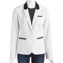 Walmart: Women's Faux Leather Trim Blazer