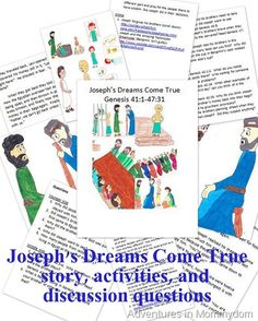 Joseph helps Pharaoh, free printable storybook, activities, and discussion questions