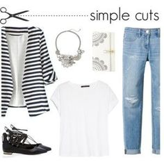 Simple Cuts Blazer, White T, Jeans