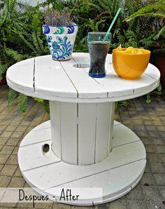 D.I.Y. Una mesa hecha con una bobina de cable