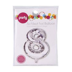 Number 8 Air-Filled Foil Balloon | KmartNZ