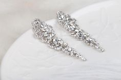 ASHLEY KRYSZTAŁOWE KOLCZYKI ŚLUBNE I WIECZOR.OWE - CYRKONIE. Biżuteria ślubna od BSHBridal Engagement Rings, Crystals, Diamond, Bracelets, Jewelry, Fashion, Enagement Rings, Moda, Wedding Rings