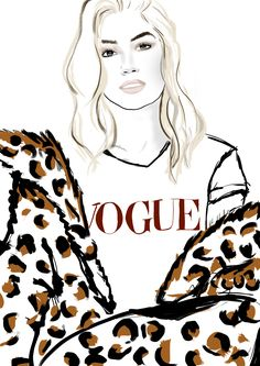 VOGUE  - Illustration by Charly Rodrigues