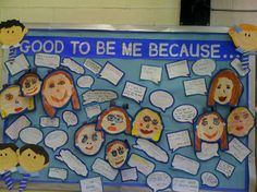 A positive and confidence-boosting 'all about me' display.