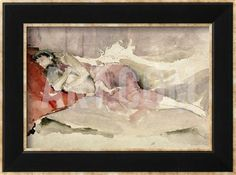 Mother And Child On A Couch Framed Giclee Print By James Abbott Mcneill Whistler