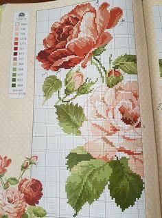 Cross Stitch Bird, Cross Stitch Flowers, Cross Stitch Patterns, Minnie Baby, Crochet Stitches, Needlepoint, Needlework, Free Pattern, Diy And Crafts
