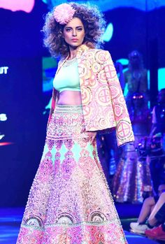 Kangana Ranaut walks the ramp for designer Manish Arora at  Blenders Pride fashion show in Mumbai. #Bollywood #Fashion #Style #Beauty #Hot #Sexy