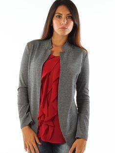 Black and white patterned stretch jersey casual jacket http://www.luanaromizi.com/en/jackets-blazers-woman/black-and-white-patterned-stretch-jersey-casual-jacket.html #Blackandwhite #patterned #stretch #jersey #casualjacket #freesketch ##luanaromizi #fallwinter