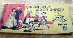 "Vintage Enid Blyton ""We Do Love Mary Mouse"" Strip Cartoon Book"