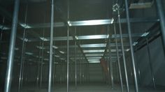 Electrical power room with raised floor