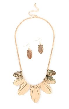 Deb Shops Jewelry Set with Metal Design Pieces $7.00