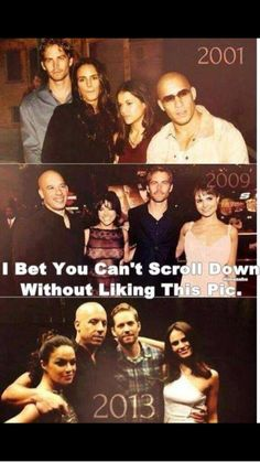 Fast & the Furious Cast through the years, Paul Walker, Vin Diesel, Michelle Rodriguez and Jordanna Brewster.love you Paul walker :) rest in peace Fast And Furious Cast, The Furious, Paul Walker Tribute, Rip Paul Walker, Paul Walker Movies, Beau Film, Michelle Rodriguez, Vin Diesel, Gal Gadot