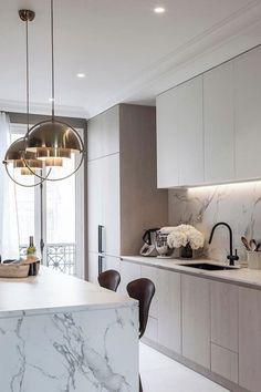 Diy Kitchen Remodel, Home Decor Kitchen, Kitchen Interior, Home Design, Interior Design, Cuisines Design, Modern Kitchen Design, Home Renovation, Home Fashion