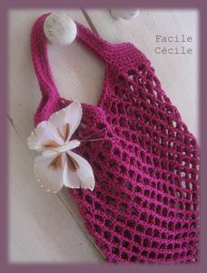 Tuto sac filet au crochet