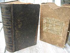 Antique vintage German religious book with cardboard case, 1892 in Stuttgart. by LittleBeachDesigns