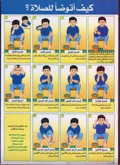 Islamic Books For Kids, Islam For Kids, Islam Beliefs, Islam Religion, Learn Quran, Learn Islam, Ablution Islam, Tafsir Coran, Preschool Behavior