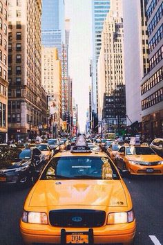 #city #citylife #yellowcab #nyc #busy