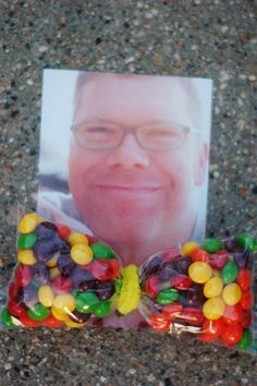 Father's Day candy bow-tie! With Jelly Belly's of course!  At Fuzziwig's Candy Factory in Durango.
