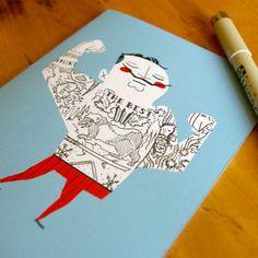 »Tattoo it yourself«, Postkarten von Andrew Kolb