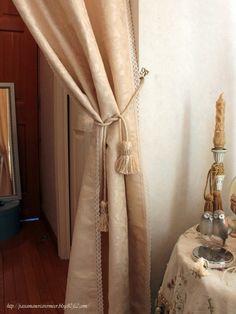 イタリア直輸入ダマスク織り カーテン***「Chez Mimosa シェ ミモザ」 ~Tassel&Fringe&Soft furnishingのある暮らし ~ フランスやイタリアのタッセル・フリンジ・ ファブリック・小家具などのソフトファニッシングで 、暮らしを彩りましょう http://passamaneriavermeer.blog80.fc2.com/