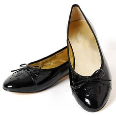 chanel patent leather flats