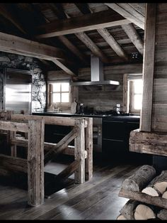 Ski restort in France. Via ELLE Decoration