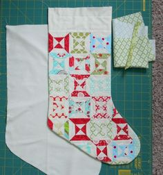Friday, December 10, 2010  Tutorial: A lined stocking with a cuff   Ok so this took me 2 days of staring at a stocking to figure out. My min...