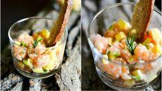 Tataráček z lososa a manga Cantaloupe, Salsa, Mexican, Fresh, Cooking, Ethnic Recipes, Kitchen, Salsa Music, Brewing