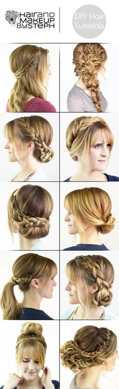 23 DIY hair styles..  #hair #diy