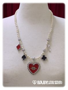 HEART TRUMP ネックレス/HEART TRUMP necklace | BABY,THE STARS SHINE BRIGHT  9,612 yen / $94  2 colors available