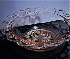 ITEM #RA-97 (Box R- ) Pink depression glass large serving bowl in the Old Colony aka Lace Edge pattern by Hocking Glass Co circa 1935-38. Bowl measures 9 1/2 across in diameter. Condition: Very good vintage condition with typical wear due to age and handling. No chips found. To find more great antique and vintage items, please visit my shop at: https://www.etsy.com/shop/PattysPorcelainEtc?ref=pr_shop_more PLEASE let me know if you need any additional photos ...