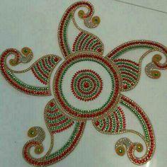 Rangoli Designs Diwali, Diwali Rangoli, Rangoli Ideas, Indian Rangoli, Acrylic Rangoli, Latest Rangoli, Diwali Craft, Plastic Bottle Crafts, Diwali Decorations