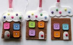 Gingerbread House Christmas Decoration Sewing Kit by hattifers, £7.95