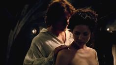 Jamie and Claire Fraser in the episode the wedding