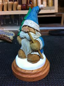 Mike Pounders Wood Carving: Father Frost