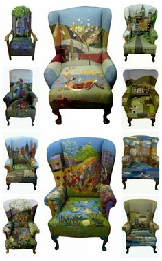 Rustique Interiors queenm ChairMadera is part of Furniture - Painted Chairs, Hand Painted Furniture, Funky Furniture, Art Furniture, Upcycled Furniture, Furniture Makeover, Patchwork Chair, Upholstered Furniture, Cool Chairs