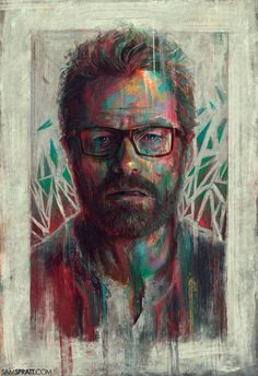 """samspratt: """" """"WW"""" and """"Bitch"""" - Illustrations by Sam Spratt With Breaking Bad coming to a close tonight, I wanted to finally give my painting of Jesse """"Bitch"""", its Walter White companion piece. Walter White, Art Breaking Bad, Breking Bad, History Instagram, Bad Fan Art, Bad Painting, Street Art, Fanart, Portrait Illustration"""