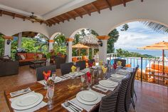 I want to dine here!  Villa Ambiente - Dominical, Costa Rica. Photography by John Williamson