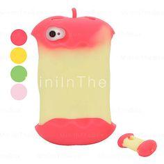 Funda Manzana de Silicona para el iPhone 4 /4 S
