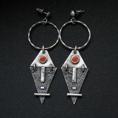 """Poddani słońcu   silver, enamel  - kolczyki ze srebra i emalii """"polandhandmade #fiann #srebro #Jewelry #unique #earrings #kolczyki #jewelrydesign #forsale #www.fiann.pl #rękodzieło #unique"""
