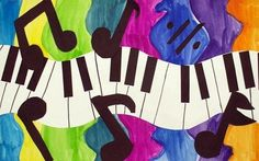 Fun Piano Project I am introducing a new sort of evaluation for my piano students. It's pretty easy to assert one's feelings towards piano and the piano class by his/her involvement and dedication, of course. Music Collage, Piano Art, Jazz Art, 4th Grade Art, Ecole Art, School Art Projects, Art Lessons Elementary, Art Lesson Plans, Art Classroom