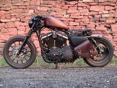 Bobber Inspiration | Harley-Davidson Sportster Iron 883 custom bobber | Bobbers and Custom Motorcycles