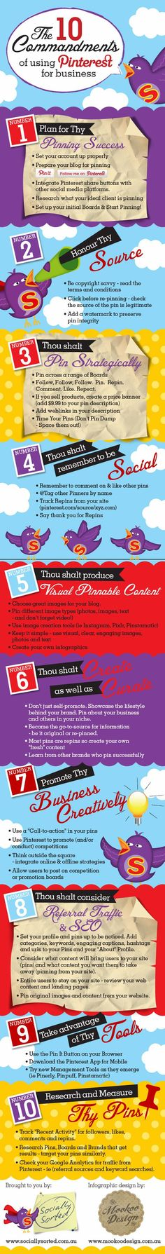 The 10 Commandments of using Pinterest for Business.