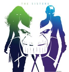 The Sisters, Gamora and Nebula Marvel Art, Marvel Dc Comics, Marvel Movies, Marvel Avengers, Marvel Wolverine, Marvel Girls, Gamora And Nebula, Nebula Marvel, Nebula Wallpaper