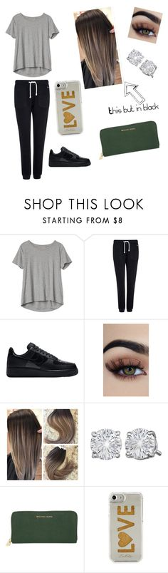 """My casual day style"" by matessed ❤ liked on Polyvore featuring Gap, Jack Wills, NIKE, MICHAEL Michael Kors and Edie Parker"