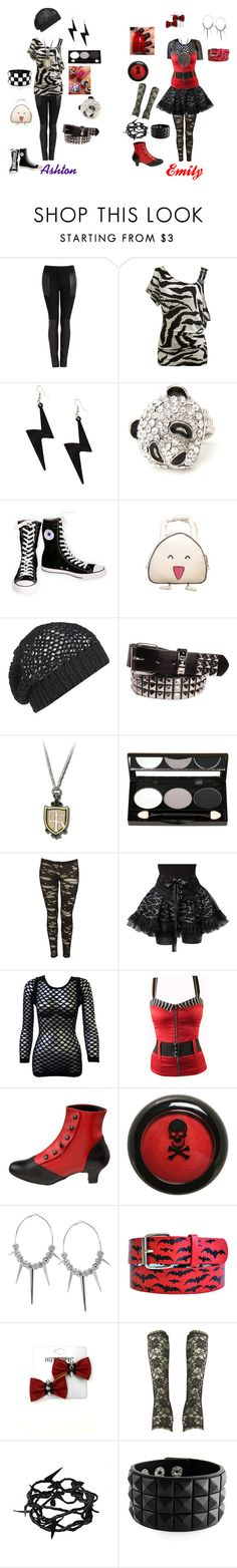 """Ashton and Me"" by mischiefmistress1 ❤ liked on Polyvore featuring Joseph, Wet Seal, Converse, AllSaints, ULTA, Barbed, Poizen Industries, Switchblade Stiletto, Pleaser and Ann Demeulemeester"