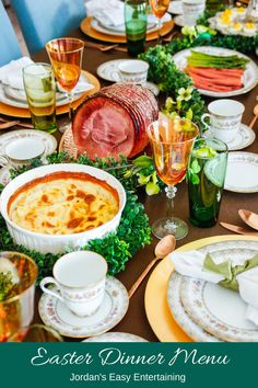 This Easter dinner menu and serving suggestions will help you with your holiday entertaining plan. We have typical Easter food traditions and they never go out of style.