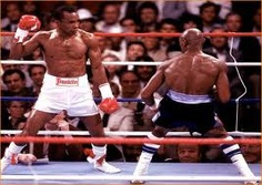 Leonard v Hagler    The golden era of non-heavyweight boxing, when Leonard, Hagler, Hearns and Duran fought some epic battles and boxing was worth watching