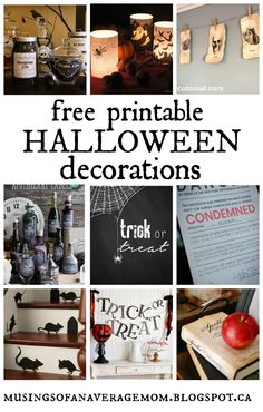 I love decorating for Halloween - it's so fun and you can be so creative - and with all of the free printables online it doesn't have to be . Printable Halloween Decorations, Halloween Home Decor, Outdoor Halloween, Halloween House, Vintage Halloween, Halloween Crafts, Halloween Ideas, Halloween Zombie, Halloween Party