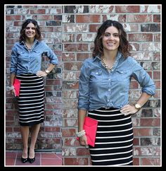 Chambray and Stripes Day and Night